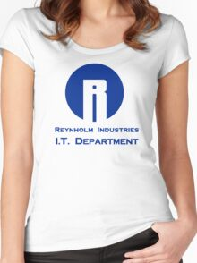 The I.T. Crowd Reynholm Industries Women's Fitted Scoop T-Shirt