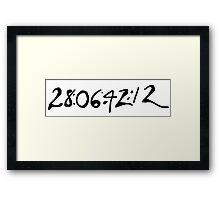 Donnie Darko Numbers Framed Print