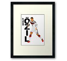 Mesut Özil - Minimalistic Design #1 Framed Print
