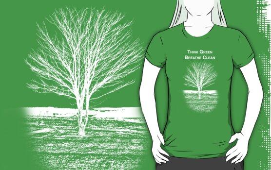 Tree Shirt (White Text/Image) by Scott Ruhs
