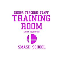 Smash School Training Room (Magenta) Photographic Print