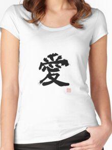 Kanji - Love Women's Fitted Scoop T-Shirt