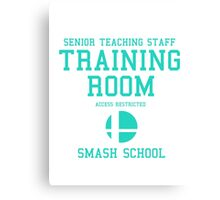 Smash School Training Room (Cyan) Canvas Print
