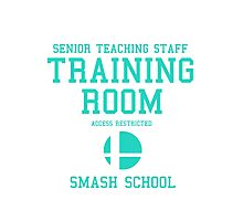 Smash School Training Room (Cyan) Photographic Print