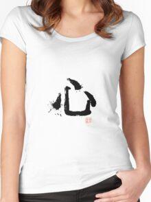 Kanji - Heart Women's Fitted Scoop T-Shirt