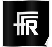 Free Flow Radio Logo (White) Poster
