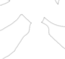 Kanji - Kiai (Shout) in white Sticker