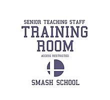 Smash School Training Room (Purple) Photographic Print