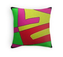 Abstract COLOR BLOCK design Throw Pillow