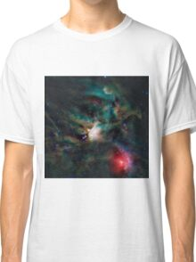 Infrared light veiw of Rho Ophiuchimolecular cloud complex (By NASA) Classic T-Shirt
