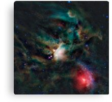 Infrared light veiw of Rho Ophiuchimolecular cloud complex (By NASA) Canvas Print