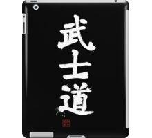 Kanji - Bushido in white iPad Case/Skin