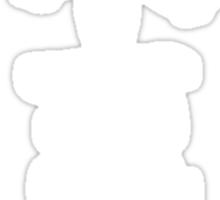 Kanji - Bushido in white Sticker