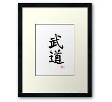 Kanji - Martial Arts Budo Framed Print