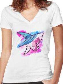 Sharpedo Women's Fitted V-Neck T-Shirt
