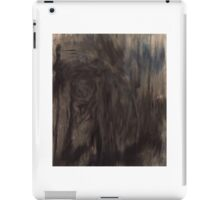 Black and White Smear iPad Case/Skin