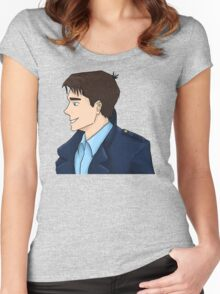 Captain Jack Harkness Profile Women's Fitted Scoop T-Shirt