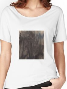 Black and White Smear Women's Relaxed Fit T-Shirt