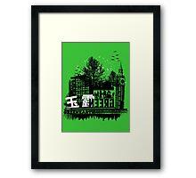 Urban color Green Framed Print