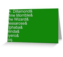 Wicked Characters Jetset, White Greeting Card