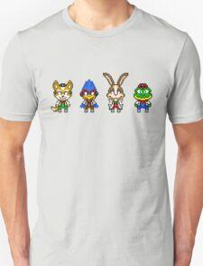 Star Fox Team Mini Pixels Unisex T-Shirt