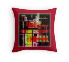 RED, YELLOW, GREEN, BLACK modern abstract ART Throw Pillow