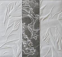 Etching: Organic Combo by Marion Chapman