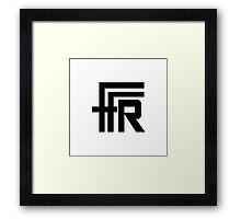 Free Flow Radio Logo (Black) Framed Print