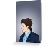 Captain Jack Harkness Profile Greeting Card