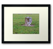 Pouting angel Framed Print