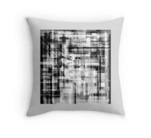 GREY Shaded, block abstract, PLAID art design Throw Pillow