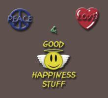Peace Love Good Happiness Stuff One Piece - Short Sleeve