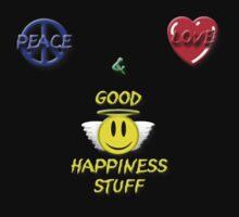 Peace Love Good Happiness Stuff Kids Tee