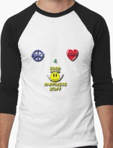 Peace Love Good Happiness Stuff Men's Baseball ¾ T-Shirt