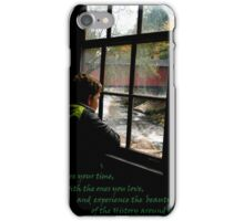 A Grandson At McConells Mill & Covered Bridge iPhone Case/Skin