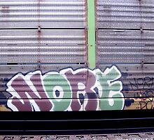Train Graffiti by Valeria Lee