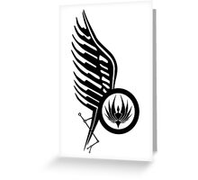 Starbucks Tattoo BSG Greeting Card