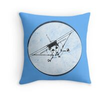 Cessna 172 Skyhawk (front) - 30° bank Throw Pillow