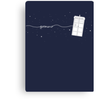 Geronimo to the TARDIS Canvas Print