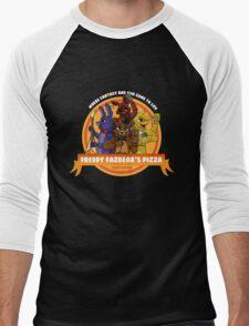 Freddy Fazbear's Pizza Logo Men's Baseball ¾ T-Shirt
