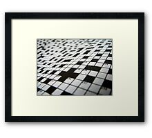 Crossword Framed Print