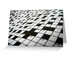Crossword Greeting Card