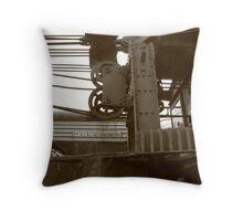 Pullman Car and Friend Throw Pillow