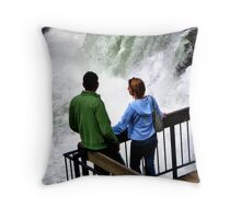 Candid Couple Throw Pillow