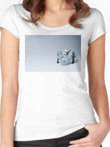 Drumming up a storm Women's Fitted Scoop T-Shirt