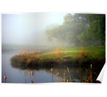 Foggy Morning At The Mill Pond(usphoto) Poster
