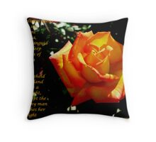Collaboration..A Friendship Rose Throw Pillow