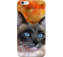 Fire and Ice Siamese Cat Painting iPhone Case/Skin