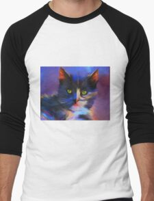 Meesha Colourful Cat Painting T-Shirt