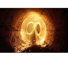 Fire in the Tunnels of San Diego Photographic Print